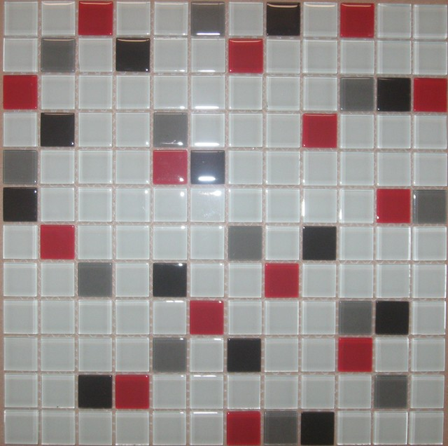 Brilliant Red Bathroom Tile Modern Bathroom Black Red White Tiles  1024x768