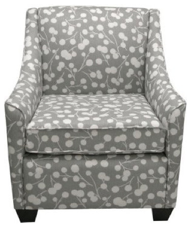 Burnham Floral Armchair - Gray eclectic-accent-chairs