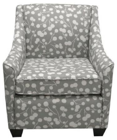 Burnham Floral Armchair - Gray eclectic-armchairs