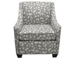 Burnham Floral Armchair - Gray eclectic-armchairs-and-accent-chairs