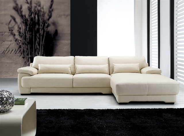 Morano Contemporary Leather Sofa Chaise Sectional 1699