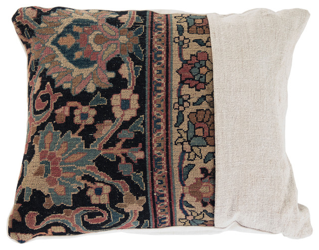 Montclair French Country Brocade Pattern Rustic Lumbar Pillow - Square transitional-decorative-pillows