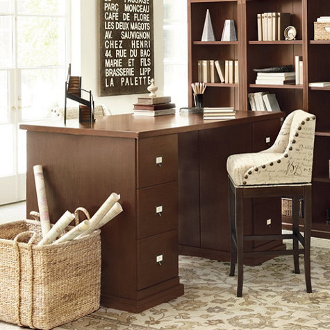 Original home office project height partners desk transitional desks and hutches by - Ballard design home office ...
