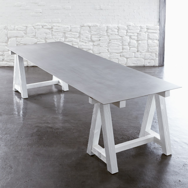 Como Sawhorse Dining Table Contemporary Dining Tables Other