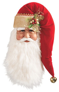 Traditional Santa Head Frontgate Christmas Decorations