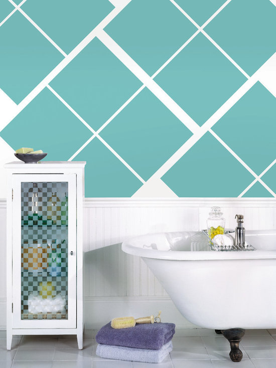 """Calypso Blox Set of Wall Decals - Voted color of the year! Call it teal of peacock blue! This pack comes with sixteen 13"""" Calypso teal blox. All WallPops are repositionable and always removable."""