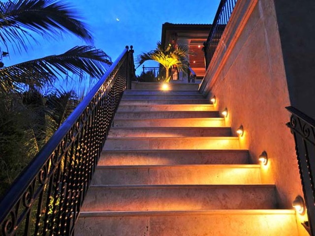 exterior outdoor lighting landscape lighting stair step lights