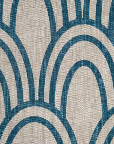 Scallop in Prussian by Studio Bon eclectic fabric