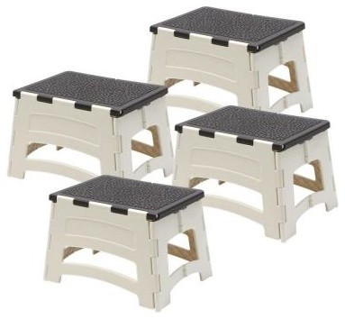 Easy Reach by Gorilla Ladders Plastic 1-Step Folding Stool (4-Pack) PL-1-COM - Contemporary ...