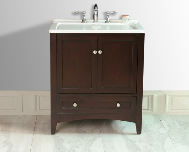 30 5 espresso laundry single sink vanity contemporary bathroom vanities and sink consoles for Single sink consoles bathroom