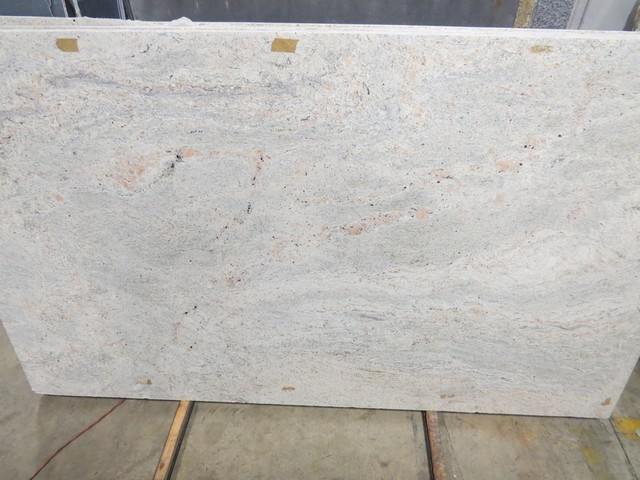 Kashmir White Granite Modern Kitchen Countertops