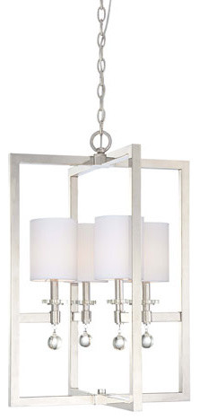 Chadbourne Polished Nickel Four-Light Pendant modern chandeliers