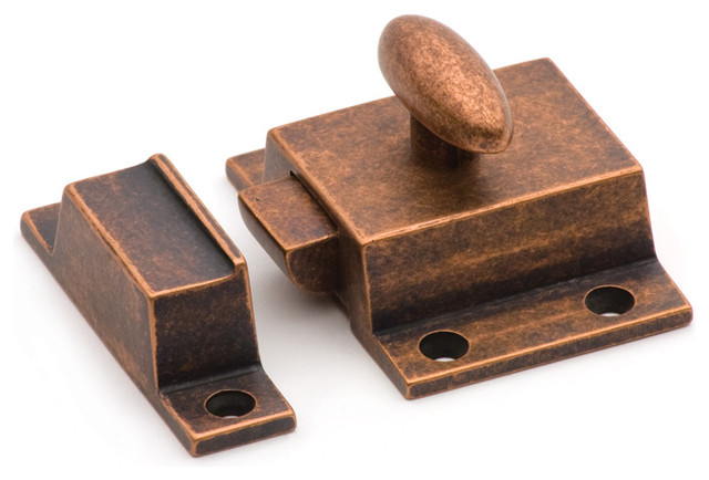 SBCL-OC solid brass cupboard latch in Old Copper traditional-home-improvement
