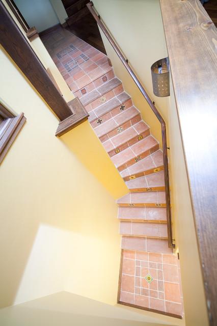 Spanish Hacienda southwestern-staircase