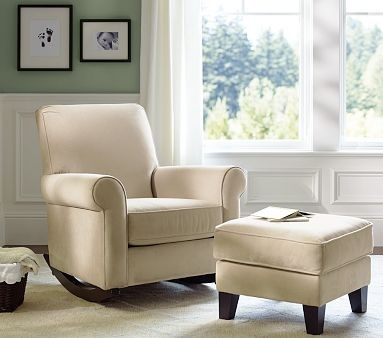 Charleston Upholstered Convertible Rocker contemporary-gliders
