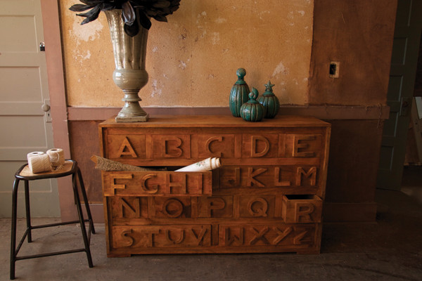 Alphabet Chest eclectic dressers chests and bedroom armoires