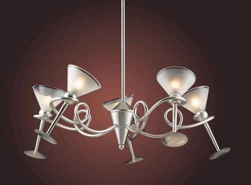 Martini Glass 5 Light Pendant modern-chandeliers