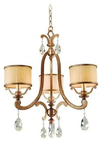 Corbett Lighting 71-03 Roma 3 Light Chandelier chandeliers