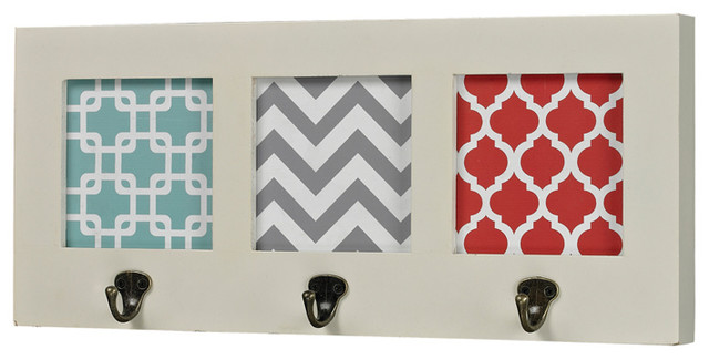 Sterling 129-1103 Chevron Print Wall Hook transitional-hooks-and-hangers