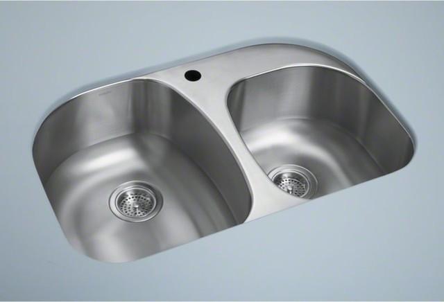 "STERLING Cinch(R) Undercounter 31.5"" x 20.5"" x 9"" Offset S contemporary-kitchen-sinks"