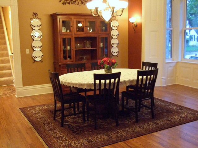 Queen Anne Victorian Renovation Traditional Dining Room