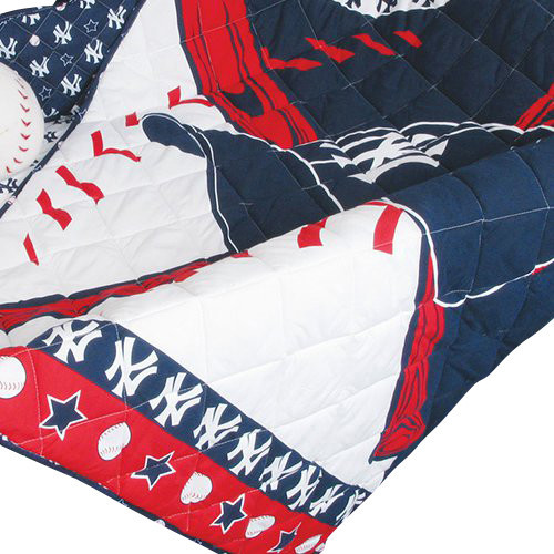 MLB New York Yankees Crib Bedding Set Baseball Quilt Bumper Contemporary
