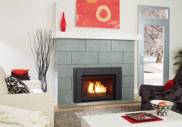 Regency horizon hzi540e modern gas fireplace insert for Contemporary fireplace insert