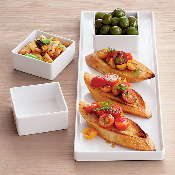 4-Piece Bento Serving Set modern-platters