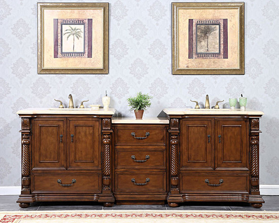 """silkroad exclusive Limited Edition Modular 92"""" Double Bathroom Vanity, hyp-0238- - silkroad exclusive Limited Edition Modular 92"""" Double Bathroom Vanity, hyp-0238-92."""