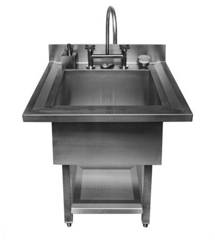 Pedestal Single Bowl Utility Sink Contemporary