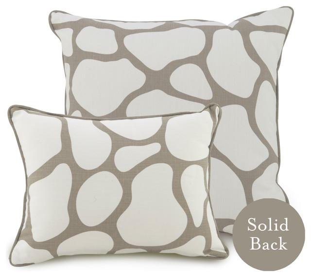 "18"" x 18"" Cobblestone Pillow, Taupe contemporary-decorative-pillows"