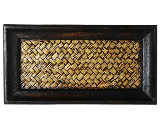 Home Spa - In a combination of earthy browns this cane and wood tray gives your bathroom an edge of exotic styling. The perfect size for all your bottles and soaps, this cane tray adds an aesthetic element to the art of decluttering.