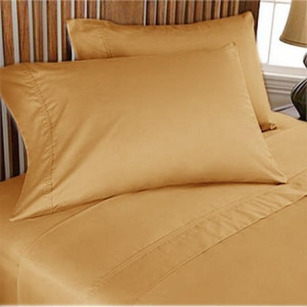 1000TC Egyptian Cotton Sheet Set 4pc Gold - FREE USA SHIPPING modern-sheets