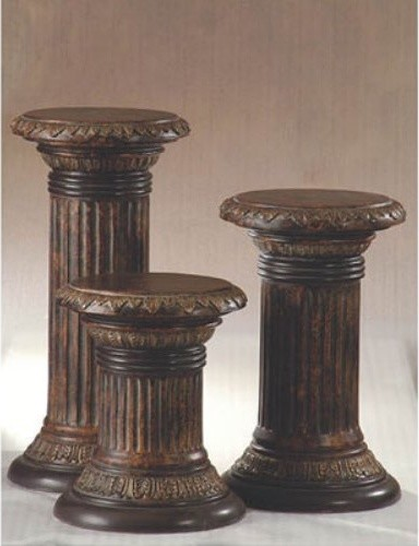 Easton Antique Bronze Pedestal traditional outdoor planters