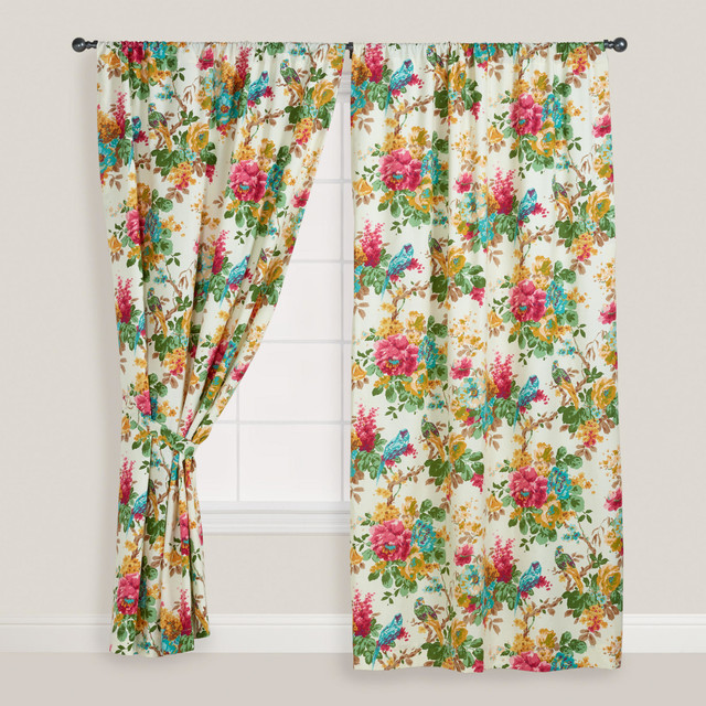 Curtains Ideas Tropical Print Curtains : Parrot Ornithology Curtain    Tropical   Curtains   By Cost