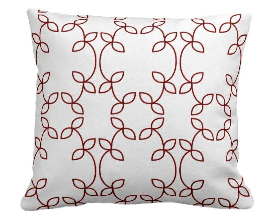 PURE Inspired Design - Vine Organic Pillow Cover, Cayenne/Natural, 18 X 12 - Collection:  PURE Beach