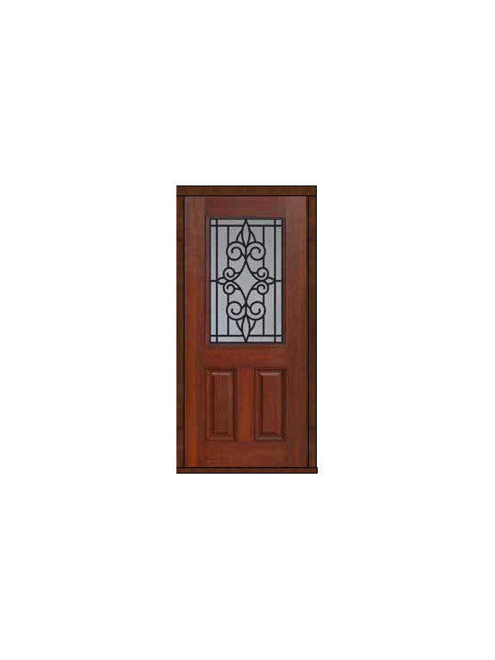 "Home Single Door 80 Fiberglass Salento 2 Panel 1/2 Lite - SKU#    MCT012WSABrand    GlassCraftDoor Type    ExteriorManufacturer Collection    1/2 Lite Entry DoorsDoor Model    SalentoDoor Material    FiberglassWoodgrain    Veneer    Price    980Door Size Options      +$percent  +$percentCore Type    Door Style    Door Lite Style    1/2 LiteDoor Panel Style    2 PanelHome Style Matching    Door Construction    Prehanging Options    Slab , PrehungPrehung Configuration    Single DoorDoor Thickness (Inches)    1.75Glass Thickness (Inches)    Glass Type    Double GlazedGlass Caming    Glass Features    Tempered glassGlass Style    Glass Texture    Glass Obscurity    Door Features    Door Approvals    Energy Star , TCEQ , Wind-load Rated , AMD , NFRC-IG , IRC , NFRC-Safety GlassDoor Finishes    Door Accessories    Weight (lbs)    248Crating Size    25"" (w)x 108"" (l)x 52"" (h)Lead Time    Slab Doors: 7 Business DaysPrehung:14 Business DaysPrefinished, PreHung:21 Business DaysWarranty    Five (5) years limited warranty for the Fiberglass FinishThree (3) years limited warranty for MasterGrain Door Panel"