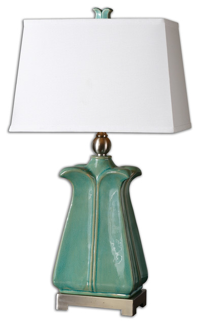 calciano teal table lamp traditional table lamps by. Black Bedroom Furniture Sets. Home Design Ideas