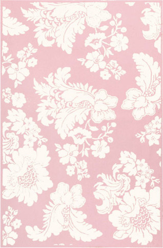 Versailles Pink Cotton Flannel Rug traditional kids rugs