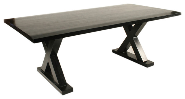 Dining Table Hand Rubbed Black Farmhouse Dining Tables By