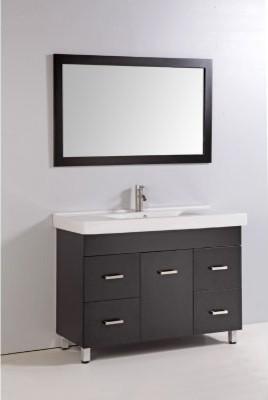 Legion Furniture 48-in. Double Bathroom Vanity Set with Faucet - Espresso modern-bathroom-vanities-and-sink-consoles