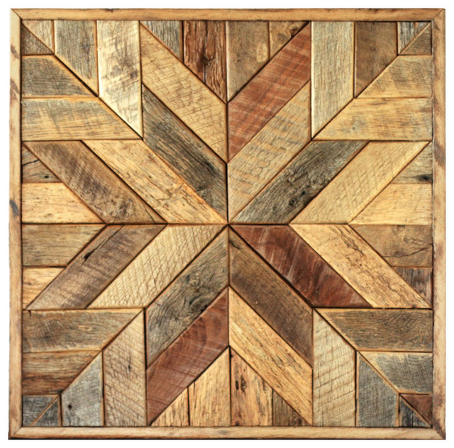 Wood Star Wall Art - Star Quilt Block, 25.5 X 25.5 Inches rustic-wall ...
