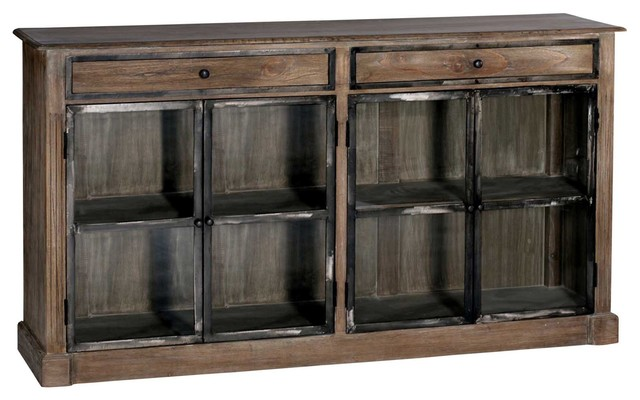 Marco Country Rustic Wood Iron Narrow Wall Cabinet - Transitional - Storage Cabinets - by Kathy ...