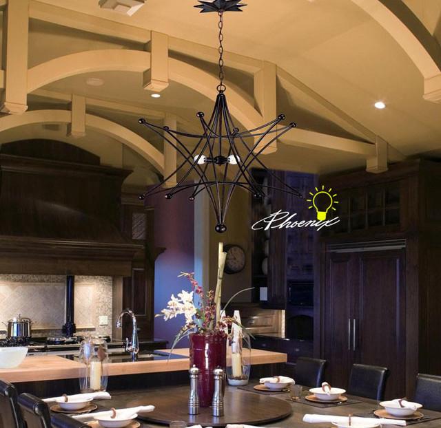 Multi Angel Iron Art Pendant Lighrting contemporary-pendant-lighting