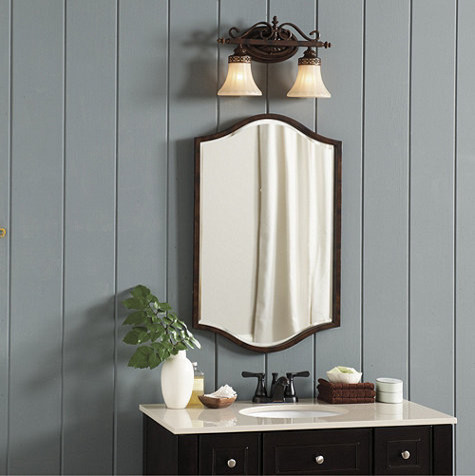 Atelier bath mirror traditional bathroom mirrors by - Traditional bathroom mirror with lights ...
