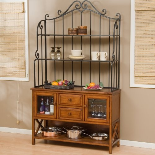Hampton Wood Bakers Rack - Heritage Oak - Traditional - Kitchen Cabinetry - by Hayneedle