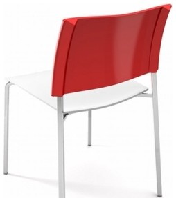 Green Srl | Alfa Fireproof Chair, Chrome Frame, Polished Back (Set of 4) modern-chairs