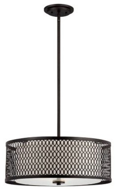 Designers Fountain 6201 Continental 20 in. Pendant in Artisan Finish modern-ceiling-lighting
