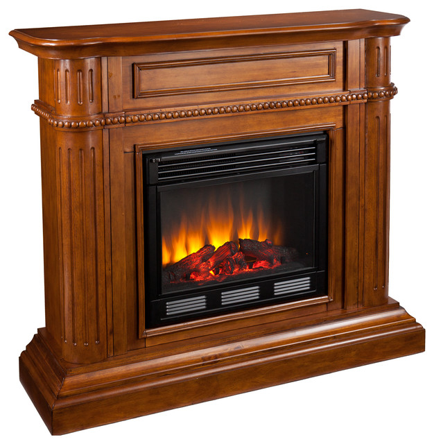 Hawkins Fireplace Walnut Electric Traditional Fireplaces By Shop Chimney