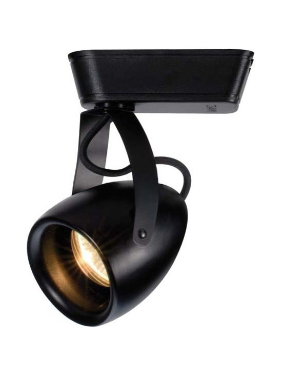 "WAC - WAC Impulse 40 Degree Black 23W LED Track Head for Juno - Impulse track head for Juno track systems. Black finish. 40 degree beam spread. Includes integrated 23 watt LED. Light output is 1366 lumens. Comparable to a 100 watt halogen bulb. 3000K color temperature. CRI is 90. Average bulb life is 60000 hours when used 3 hours a day. Dimmable down to 10 percent with ELV dimmer. Die-cast aluminum construction. 360 degree horizontal rotation and 180 degree vertical aiming. Title 24 compliant. Free of UV and IR radiation. 7 1/4"" high. 4"" wide.  Impulse track head for Juno track systems.  Black finish.  40 degree beam spread.  Includes integrated 23 watt LED.  Light output is 1366 lumens.  Comparable to a 100 watt halogen bulb.  3000K color temperature.  CRI is 90.  Average bulb life is 60000 hours when used 3 hours a day.  Dimmable down to 10 percent with ELV dimmer.  Die-cast aluminum construction.  360 degree horizontal rotation and 180 degree vertical aiming.  Title 24 compliant.  Free of UV and IR radiation.  7 1/4"" high.  4"" wide."